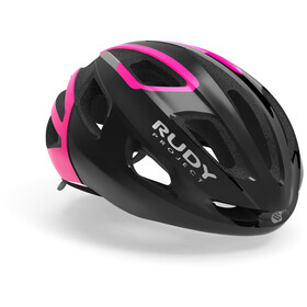 Rudy Project Strym Fietshelm, black/pink fluo shiny